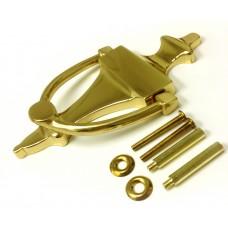 Bright Brass Finish - Solid Brass Door Knocker