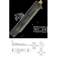 Solid Brass Flush Bolt in Dark Oxidize ( for wood doors )