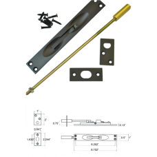 Solid Brass Flush Bolt in Dark Oxidize ( for metal doors )