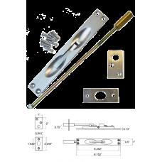 Solid Brass Flush Bolt in Satin Nickel( for metal doors )