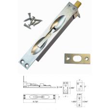 Solid Brass Flush Bolt in Satin Nickel( for wood doors )