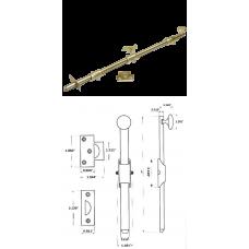 "18"" Solid Brass Heavy Duty Surface Bolt in Bright Brass"