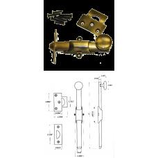 "4"" Solid Brass Heavy Duty Surface Bolt in Antique Brass"