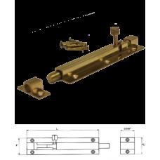 """4"""" Solid Brass Door Barrel Bolt"""
