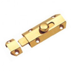 "4"" Solid Brass Door Bolt Bright Brass"