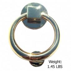 Bright Brass Finish - Solid Brass Round Door Knocker