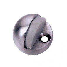 Solid Brass Door Stopper Satin Nickel Finish
