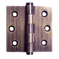 2.5 x 2.5 x 2mm Solid Brass Hinges Antique Brass Finish