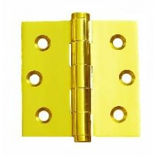 2.5 x 2.5 x 2mm Solid Brass Material Bright Brass Finish Hinge