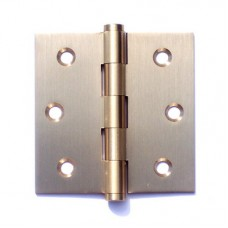 3inchx3inchx2.0mm Solid Brass Door Hinge Satin Brass Finish