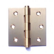 3inchx3inchx2.0mm Solid Brass Door Hinge Satin Brass Finish