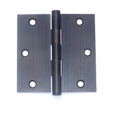 3 inch x 3inch x 2mm Residential Solid Brass Dark Oxidized Oil Bronze Hinge