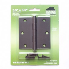 "3.5""x3.5""x2.0mm Square Corner Solid Brass Dark Oil Rubbed Bronze Hinge"