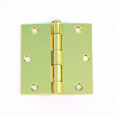 "3.5"" x 3.5""x2.2mm Residential Lifetime Brass Finish Steel Hinges Square Corner"