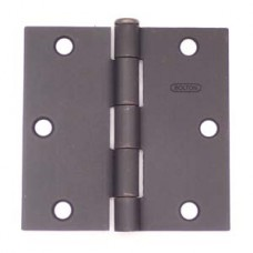 "3.5"" x 3.5""x2.2mm Square Corner Dark Oil Rubbed Bronze Finish Residential Steel Hinge"