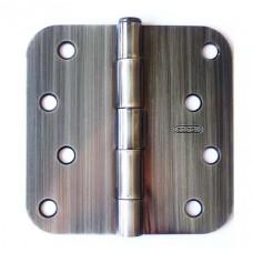 "4"" x 4""x2.2mm Residential Antique Brass Finish 5/8"" Radius Steel Hinge"