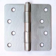 """4"""" x 4""""x2.2mm 1/4"""" Corner Satin Nickel Finish Steel Hinge"""