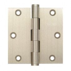 "3.5"" x 3.5"" x 2.5 mm Square Corner Satin Nickel Solid Brass Hinge"