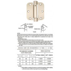 "3.5"" x 3.5"" x 2.5 mm 5/8"" Radius Satin Nickel Spring Hinge Self Closing Door Hinge"