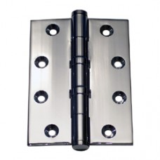4 x 3 x 2.5mmPolished Bright Chrome Finish  2 Ball Bearing Solid Brass Hinge