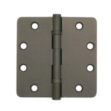 "4.5 ""x 4.5"" x 2.5mm 1/4"" Rounded Corner 2 Ball Bearin Dark Oil Rubbed Bronze Finish Solid Brass Hinges"