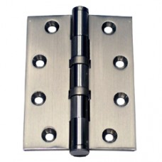 4 x 3 x 3mm Square Corner Solid Brass Satin Nickel Finish Hinge