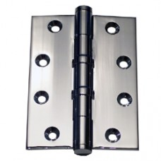 4 x 3 x 3mm Polished Chrome Finish Solid Brass Hinge