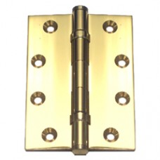 4 x 3 x 3mm Solid Brass Bright Brass Finish Hinge