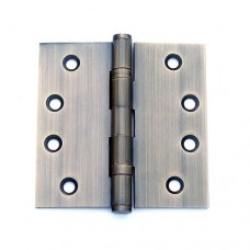 4 inch x 4 inch x 3.0 mm Square Corner Antique Brass Finish Solid Brass Hinges