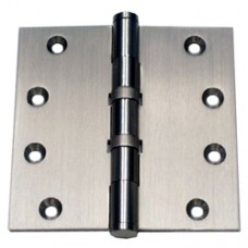 4 x 4 x 3mm Square Corner 2 Ball Bearing Satin Nickel Finish Solid Brass Hinge