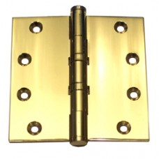 4 x 4 x 3.0mm Solid Brass Hinge Polished Brass Finish