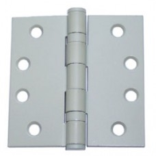 "4"" x 4"" Commercial Grade White Painted Square Corner Steel Hinges"