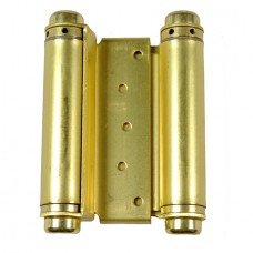 5 Inch Double spring Steel Hinge In Satin Brass Finish