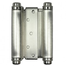 6 Inch Double spring Steel Hinge In Satin Nickel Finish