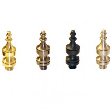 "Solid Brass Steeple Hinge Tip for 3"" or 3.5"" Solid Brass Hinges in Antique Brass Finish"