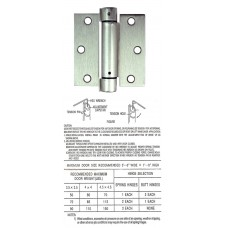 "3.5"" x 3.5"" x 2.5 mm Square Corner Satin Nickel Spring Hinge"