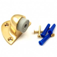 Solid Brass Door Stopper Bright Brass Finish